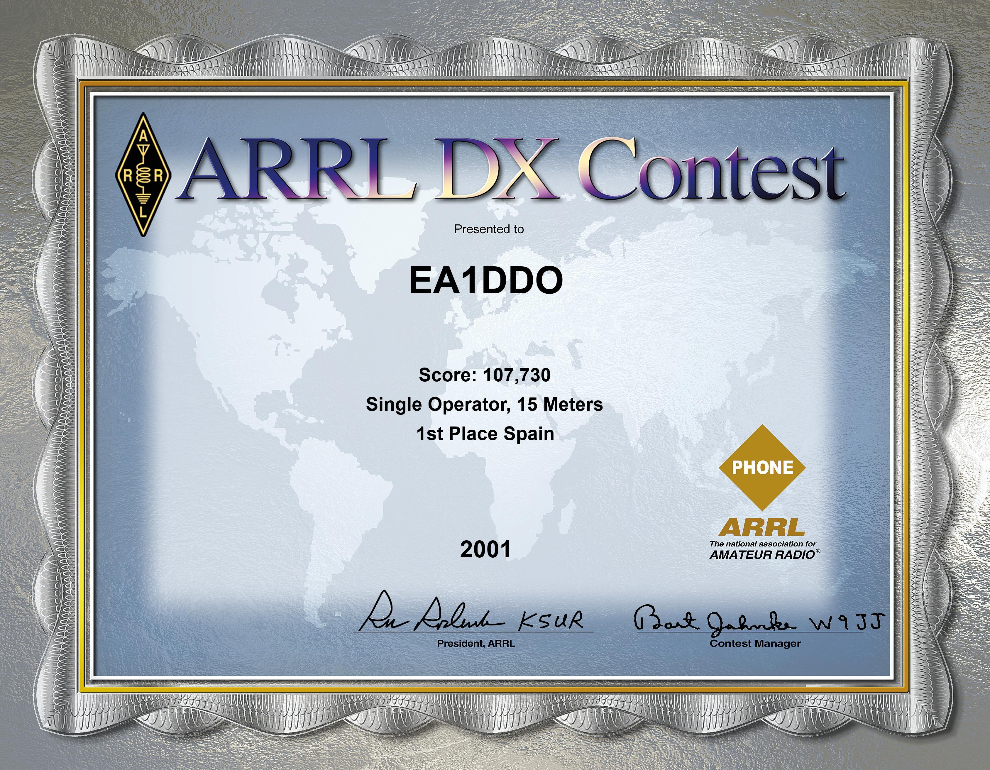 ARRL SSB 2001