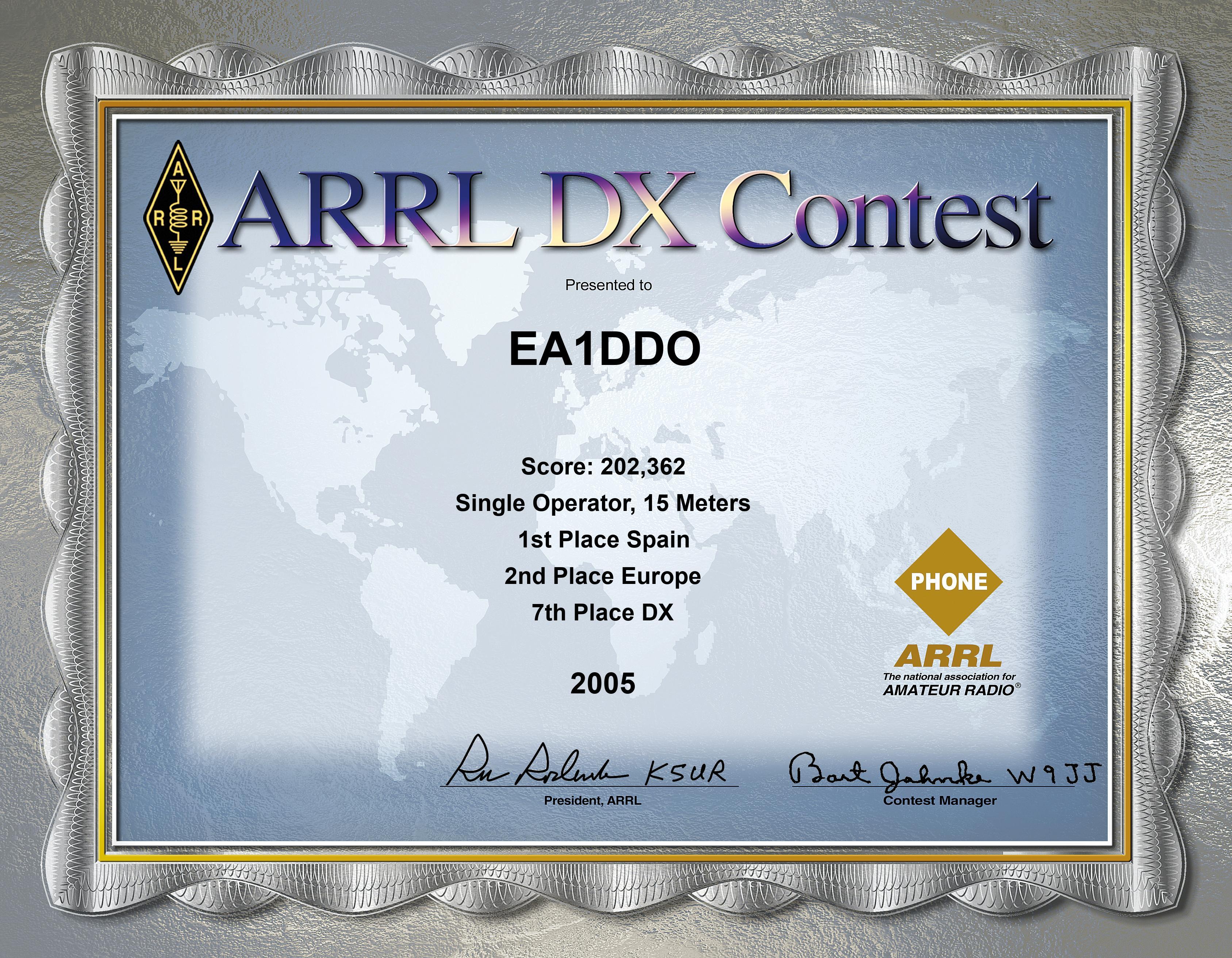 ARRL SSB 2005