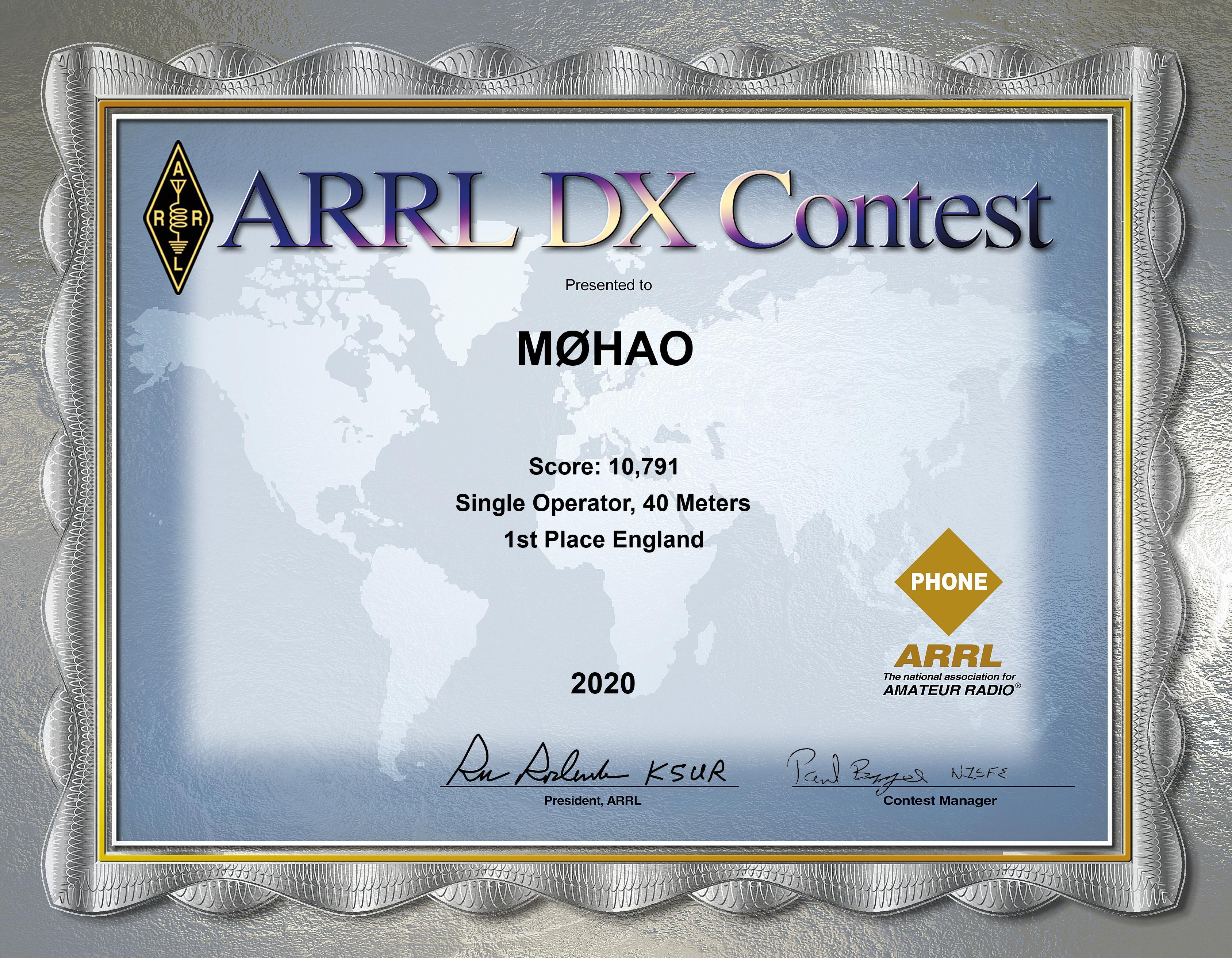 ARRL SSB 2020