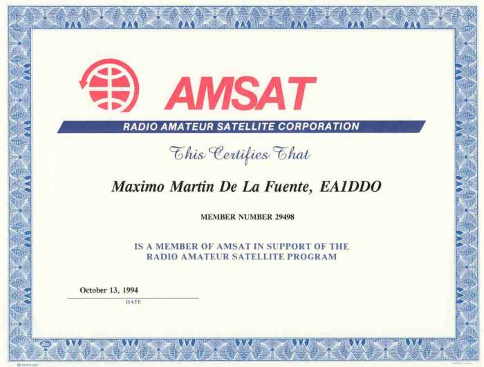 AmSat socio Nº 29498