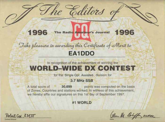 CQ WW DX SSB 1996