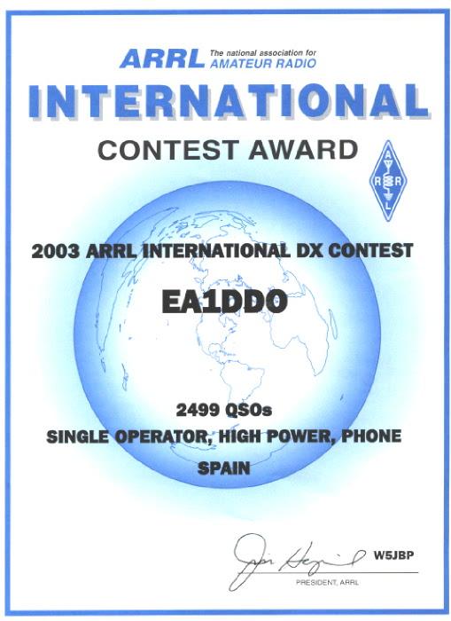 ARRL SSB 2003