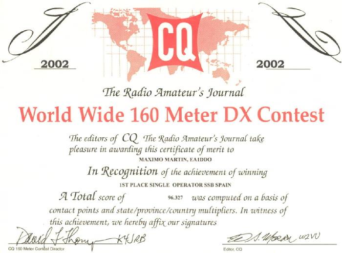 CQ WW DX 160 SSB