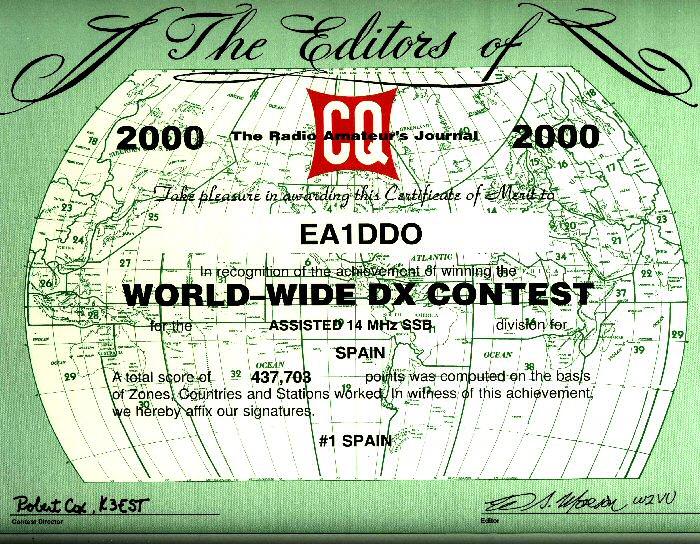 CQ WW DX SSB 2000