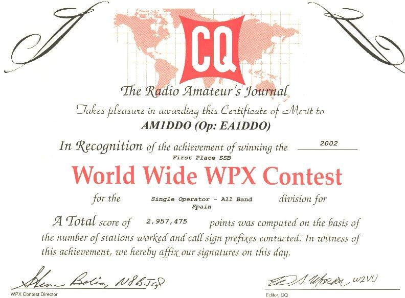 CQ WPX DX SSB 2002