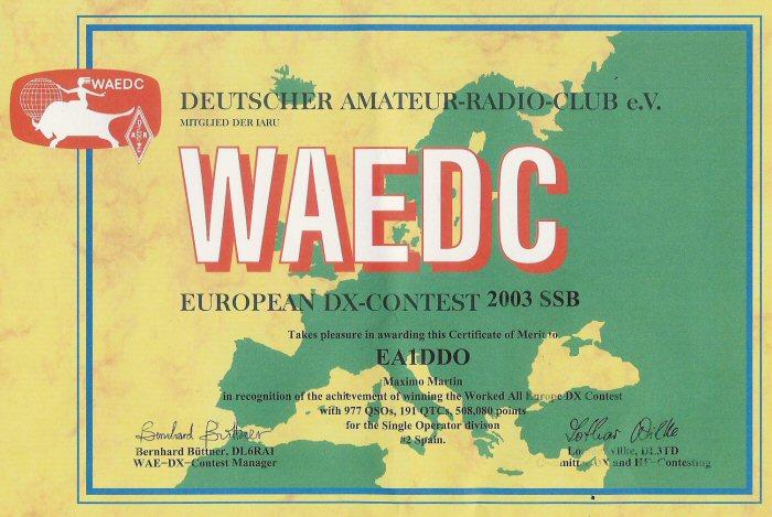 WAEDC 2003